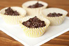 dark chocolate almond clusters with sea salt. yum.