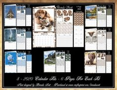 2020 Calendar Bumper Kit on Craftsuprint - View Now! African Cats, Vintage Horse, Calendar 2020, Calendar Design, Note Paper, Craft Fairs, Christmas Time, Card Making