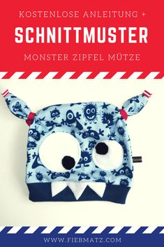 Find a great guide to a great monster hat with Finde eine tolle Anleitung für eine geniale Monster Mütze mit Zipfeln! Mit ode… Find a great guide for a great monster hat with corners! With or without a sewn-on face! Knitting Projects, Knitting Patterns, Sewing Projects, Monster Hut, Toddler Girl Style, Baby Blog, Knitting For Beginners, Project Free, Cool Baby Stuff
