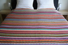 Because who doesn't love a stripey crochet blanket?
