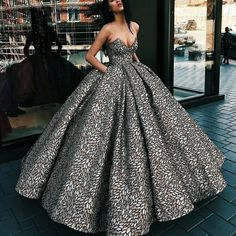 Ball Gown dress and super glam black and white