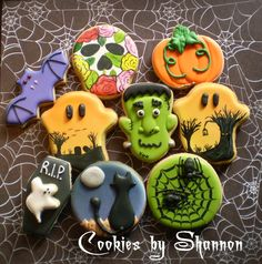 Halloween Collection       Cookies by Shannon  cookiesbyshannon@yahoo.com