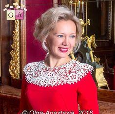 Irish lace by Olga-Anastasia Ирландское кружевокомплект
