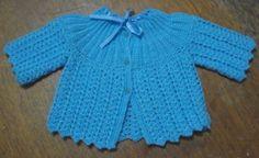 modelos de casaquinho de crochê pro bebe