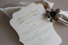 Menu Cards Wedding Menu Cards Menu Card by lemonseedandco on Etsy, $2.00