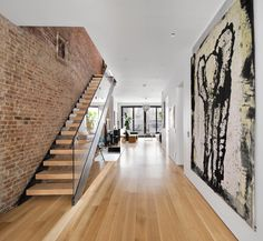 Completely open floor plan designed to optimize light and air