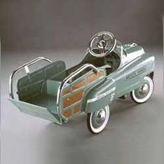 Vintage Green Estate Wagon Kids Pedal Car