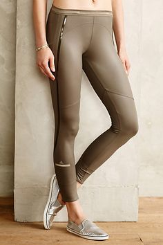 Adidas by Stella McCartney Perforated Running Tights - anthropologie.com