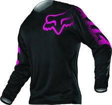 Fox Racing Womens & Youth Black/Pink Blackout Dirt Bike Jersey MX ATV 2016
