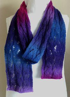 Stunning Purple to Blue to Magenta Gradient by NeedlesnPurls