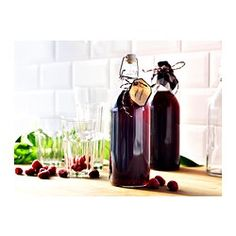 KORKEN Bottle with stopper - IKEA, perfect for giving Lavendar-Peach Soda as a gift!