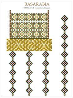 Semne Cusute: din BASARABIA Folk Embroidery, Learn Embroidery, Cross Stitch Embroidery, Embroidery Patterns, Cross Stitch Patterns, Machine Embroidery, Shirt Embroidery, Modern Embroidery, Antique Quilts