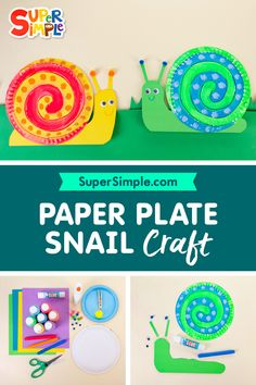 This craft is a great way to practice lots of fine motor skills. Easy Crafts For Kids, Toddler Crafts, Simple Crafts, Snail Craft, Snails In Garden, Bug Crafts, Preschool At Home, Toddler Fun, Fine Motor Skills