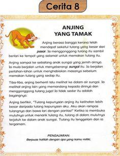 Kindergarten Reading Activities, Preschool Writing, Reading Worksheets, Literacy, Kids Story Books, Stories For Kids, Short Stories, Malay Language, Printable Bookmarks