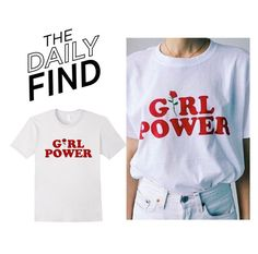 """The Daily Find: Girl Power T-Shirt"" by polyvore-editorial ❤ liked on Polyvore featuring Bing Bang and DailyFind"