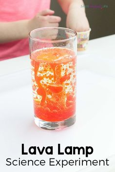 Lava lamp experiment for kids. This fun science experiment is great for kids of all ages!