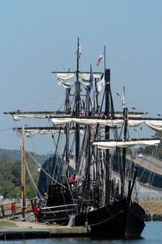 photo gallery the nina and pinta replica ships sail in at ditto landing