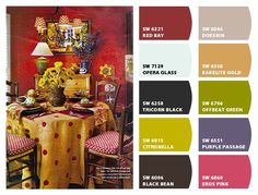 Paint colors from Chip It! by Sherwin-Williams - French Country