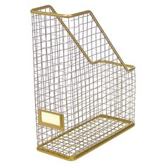 Threshold™ Gold Rustic Wire Magazine Holder