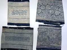 long strips of blue and white decorated fabric that were actually part of a large skirts Chinese Fabric, Shibori, Blue And White, Ink, Ceramics, Skirts, Graduation, Ceramica, Skirt