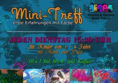 Alices Atelier & Galerie MiniTreff für Kinder von 1-4 Jahren Dienstags 15:30 - 16:30 Uhr