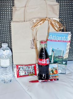 Wedding Guest Welcome Bags Wedding Coordination: Signature Weddings by Candice Photos: Paperlily Photography
