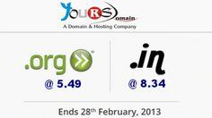 Domain Names Promo for February , 2013   YoursDomain.Com Web Hosting Blog