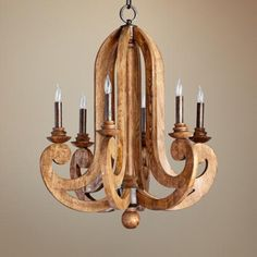 Quorum Ashford 6-Light 26 1/2 Wide Provincial Chandelier from Lamps Plus, as seen on @Cassie Bustamante (Primitive & Proper)