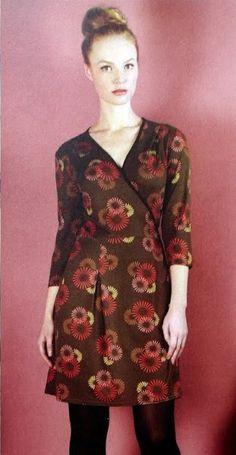 Free PDF pattern, GBSB Wrap dress
