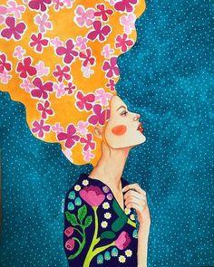 """until the heat of the moment takes us away"" watercolour on paper) Watercolor Illustration, Watercolor Art, Peace Art, Arte Popular, Gustav Klimt, Portrait Art, Figurative Art, Painting Inspiration, New Art"