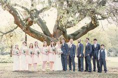 Pink & Gray Wedding! Bridal Party