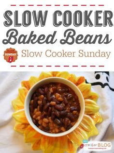 Slow Cooker Baked Beans | Slow Cooker Sunday | TodaysCreativeBlog.net