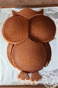 Owl Cake Made From Round Pans (Will have to do this sometime ^_^)