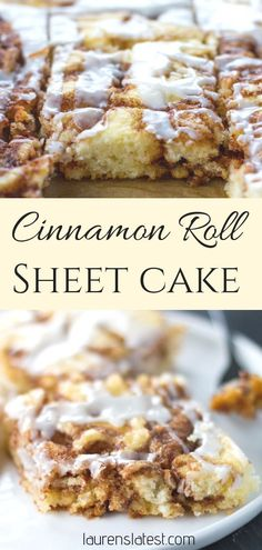 Cinnamon Roll Cake, Desserts, This easy cinnamon roll sheet cake is the easiest and tastiest cakes I've ever made! It's filled with lots of sweet and buttery crevices that are . Sheet Cake Recipes, Easy Cake Recipes, Dessert Recipes, Cake Recipes From Scratch, Sheet Cakes, Baking Recipes, Recipes Using Cake Mix, Cake Mix Cookie Recipes, Bread Recipes