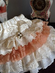LOVE, LOVE, LOVE, LOVE, LOVE!!!! Valentines day child Vintage lace and eyelet  by Babybonbons, $55.00