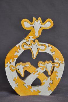 Girafe familiales africaines Shona Animal Puzzle par Puzzimals