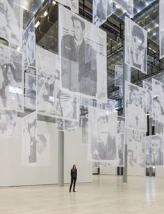 "Installation view ""Christian Boltanski - Moved"" Geist(er), 2013."