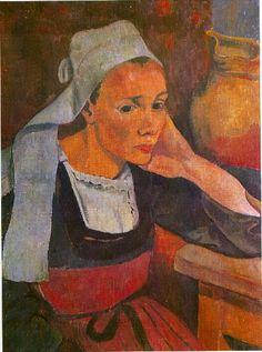 The Athenaeum - Portrait de Marie Lagadu (Paul Serusier - ) Paul Gauguin, Georges Seurat, Beaux Arts Paris, Muse Art, Art Japonais, New Museum, French Art, Painting & Drawing, Woman Painting