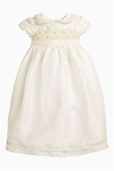 Buy Cream Full Length Silk Occasion Dress (0-18mths) from the Next UK online shop