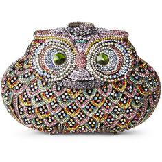 NATASHA Crystal Owl Minaudi�re (€150) ❤ liked on Polyvore