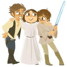 Han, Leia and Luke