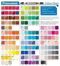 PROMARKERS - Here is a list of the 45 basic colours that I would aim for if starting a collection, this would be all you need to do different skin tones, hair, different fur and animal colours, foliage, flowers, clothes. I have kept the selection neutral and darker shades can be added as you wish