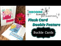How to Make Unique Buckle Fold Cards | Double Feature - YouTube