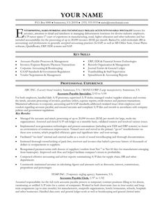 accounts payable resume examples httpwwwjobresumewebsiteaccounts - Sample Accounts Payable Resume