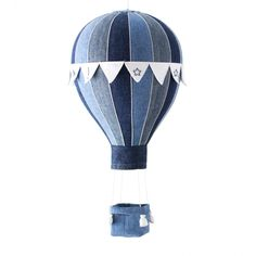 Hot Air Balloon Mobile - Flags, Basket And Weight Bags Sewing Pattern