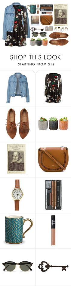 """""""Shakespeare in the Park"""" by living-on-the-catwalk ❤ liked on Polyvore featuring RED Valentino, Shop Succulents, Michael Kors, L'Objet, NARS Cosmetics, Polaroid, Ray-Ban and Pier 1 Imports"""