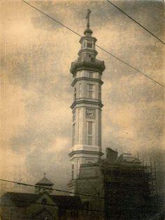 Torre do Santuário Santa Isabel Rainha (anos 60), Vila Santa Isabel, São Paulo. Foto: Zinho (Nicanor dos Santos Arguelles)