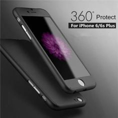 Luxury Hybrid Tempered Glass Acrylic Full Hard Protective Case Cover For iPhone 6 Plus 6S Plus 5.5 inch