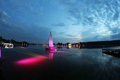 #wagrowiec #wielkopolska #polska #poland #jeziorodurowskie #lake #plaza #regaty #night #wągrowiec
