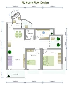 A Free Customizable 2 Bed Floor Plan Template Is Provided To Download And  Print. Quickly